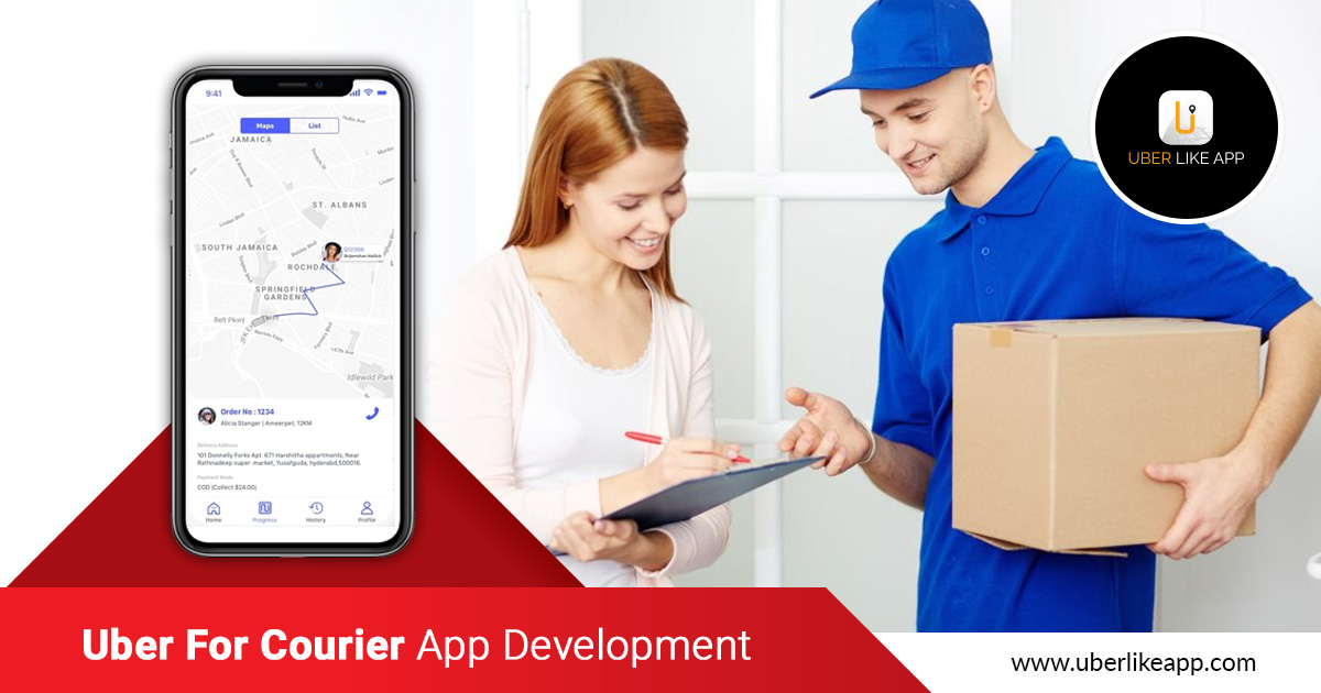 Uber for Courier, On Demand Courier Delivery App, Courier App Development